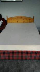 Double bed with memory foam mattress, headboard and two storage drawers - MUST GO ASAP