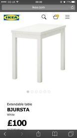 IKEA dining table extendable bjursta