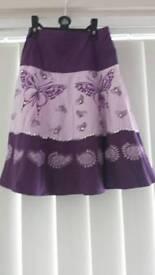 Purple butterfly sequin girls skirt