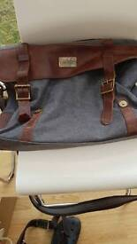 handbag canvass and real leather