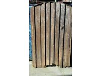 2 Wooden Garden Gates Need TLC House Gates Sold As Seen