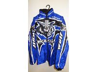 wulfsport jacket size 34 approx age 13 motocross motox quad blue junior youth kids