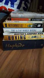 Marshall arts books and boxing