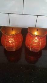 Tea light holders.