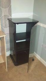 Black glass cabinet