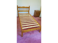 Single bed wooden pine frame 3ft