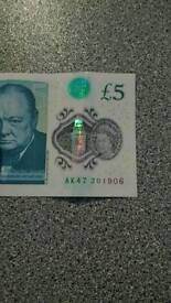 Ak47 new £5 pound note