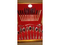 SILVER PLATED 44 PIECE DESIGNER CUTLERY SET