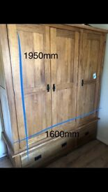 Solid Oak triple Wardrobe