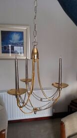 Ceiling 3 Candle Electric Hanging Light