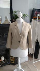 Cream/Stone coloured jacket size 12