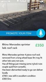 Mercedes sprinter lwb rhino roof rack