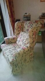 Winged armchair excellent condition