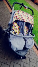 A great clean double pushchair