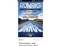 Runrig, The Last Dance - Saturday 18th with camping Friday and Saturday.
