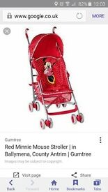 girls minnie mouse stroller