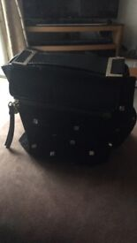 Jimmy Choo black suede leather bag with stud detail