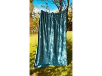 Pair of velvet curtains in 'Peacock Luxe' 179 x 221