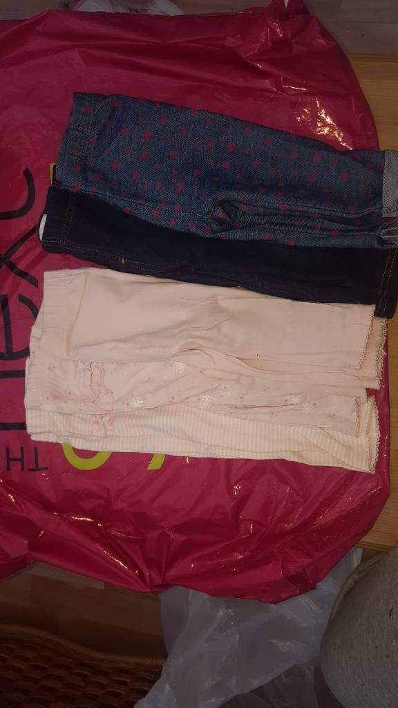 Bundle. Baby girl leggings and jeggins 6-9m