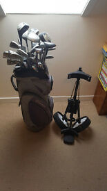 Pentron Trolley and Bag of 31 Clubs. £100 0r Offers