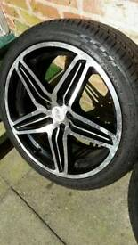 """PLW 18"""" Alloys with Tyres"""