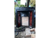 Victorian fire place 36 inches wide 38 inches tall