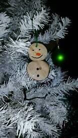 Mini snowman tree decorations