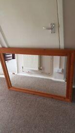 Solid pine mirror 42 x 30