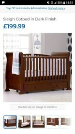 Cot bed and matching changing station.