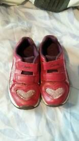 Beautiful clarks small girls trainers