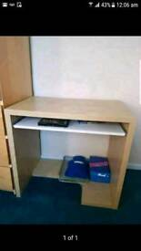 Desk table and picture frame
