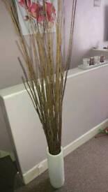 Decorative sticks and pot