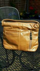 Leather gold evening Bag