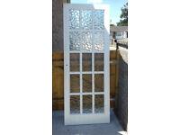 15 Panel opaque glazed wooden internal door