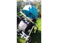 Oyster Pram / pushchair with blue colour pack