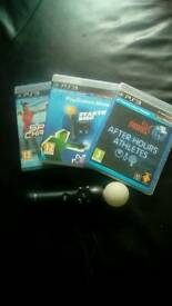 Ps3 motion controller and 3games