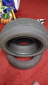 2 x Yokohama winter tyres