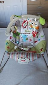 Fisher Price Woodsy Bouncer Baby Seat/Chair