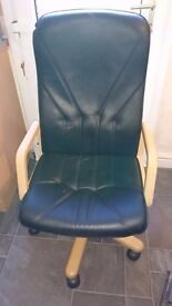 Leather Computer chair for sale never been used 75 pounds or nearest offer