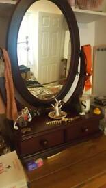 Oval mirror with drawers WANT SOLD ASAP
