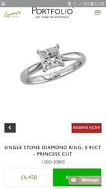 Lunns Platinum Diamond Engagement ring and Wedding Ring