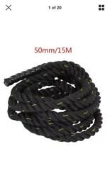 Battle rope 15metres in length 50mm thick