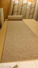 BRAND NEW WHIPPED BUDGET FEATURE STAIR CARPET RUNNER 58cm x 8metres HARD WEARING TWIST PILE