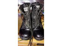 Genuine leather army boots