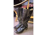 Dr Marten Vintage long brown leather ladies boots 7