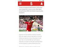 2xmeet and greet Ian Rush tickets penarth rs Cardiff 21st feb