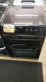 BEKO BLACK 60CM DOUBLE OVEN ELECTRIC COOKER