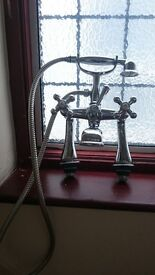 VICTORIAN VERY HEAVY TRADITIONAL BATH SHOWER MIXER TAP