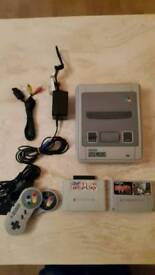 Super Nintendo snes with final fight