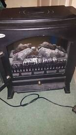 Quick heat electric fire